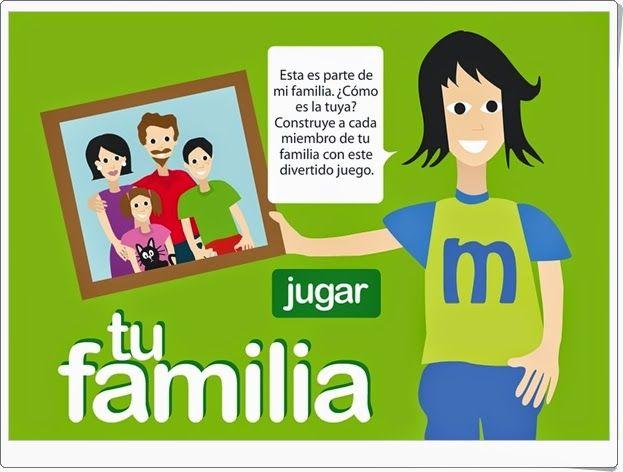 """""""Tu familia"""" es una sencilla aplicación en la que reconocer, nombrar y caracterizar a los miembros de tu propia familia."""