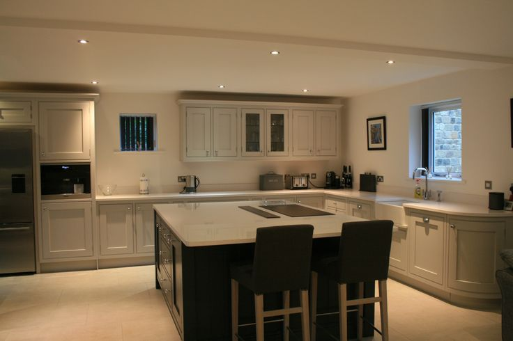 Handmade kitchen - painted in Neptune Shingle and Charcoal.