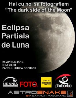 Maine seara fotografiem eclipsa partiala de Luna- Photosetup