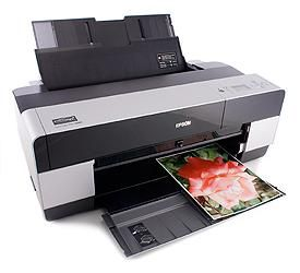 The Epson Stylus Pro 3880 professional photo printer produces exquisite, gallery-worthy prints at sizes up to 17 by 24 inches.