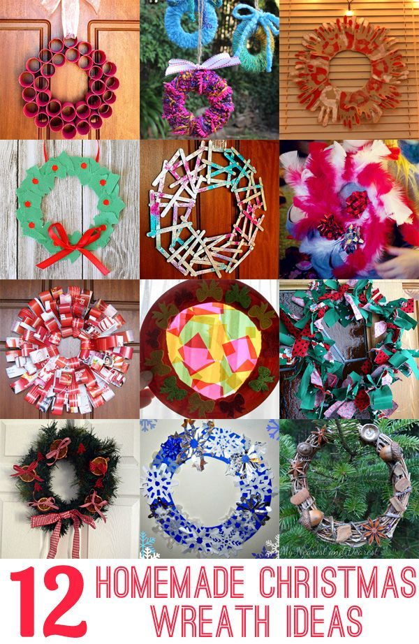 12 Homemade Christmas Wreath Ideas: Make a wreath as a family as a fabulous keepsake and tradition