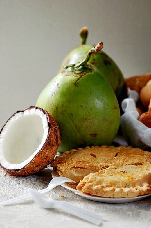 Buko Pie with Coconut Fruit martiniko, CC-BY, via flickr Buko pie is a favorite pasalubong or homecoming gift that Filipinos love giving their families, friends, and colleagues.   Buko pie is actually round, stuffed with layered slivers of meat of...