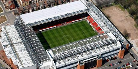Anfield Stadium er hjemmebanen til Liverpool