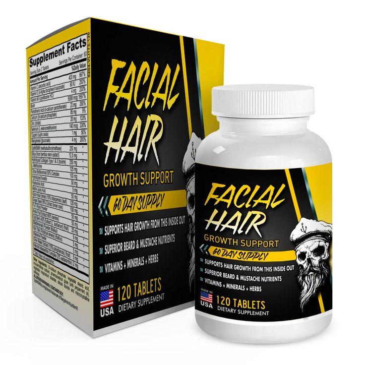 Vitamins to increase facial hair