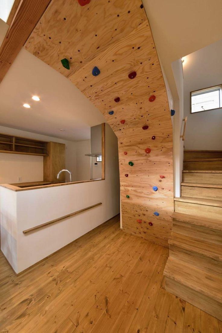 #アトリエdoor一級建築士事務所 の モダンな #キッチン #ボルダリング壁