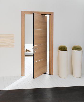 Modern interior roto swing door featuring bamboo with inlaid aluminum roto panel & 70 best Doors with or without a view images on Pinterest | Door ... Pezcame.Com