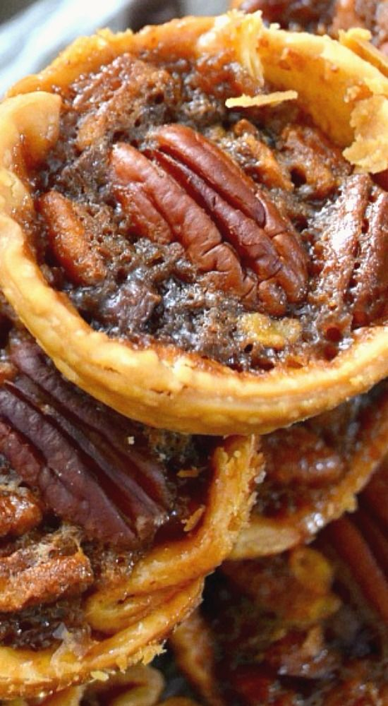 Mini Chocolate Chip Pecan Pies.