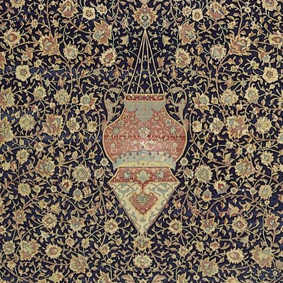 Detail showing the central medallion, Ardabil Carpet