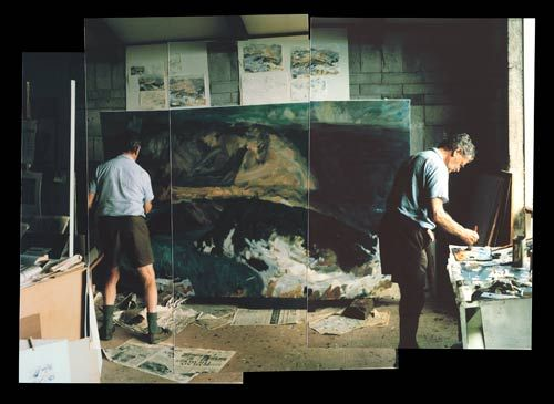 Toss Woollaston in his studio, 1991