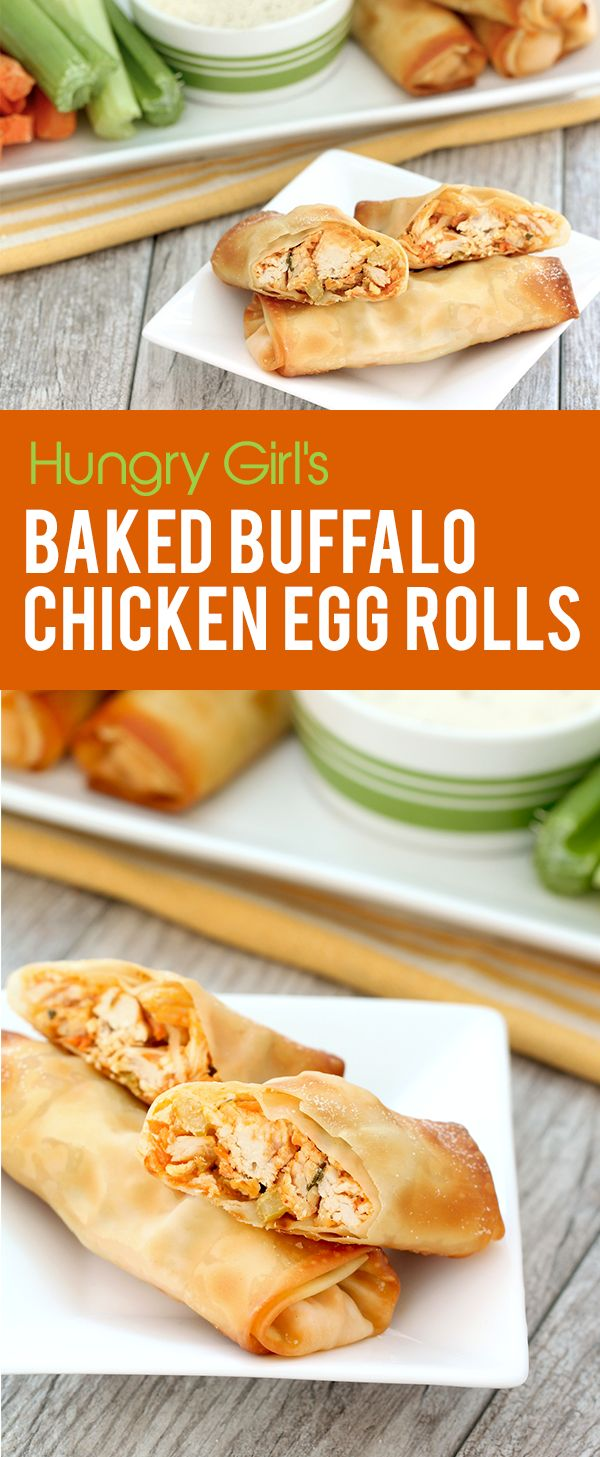 If you crave the fun finger foods served at parties & bars, you need this healthy recipe in your life. It combines the goodness of Buffalo chicken wings with egg rolls to make the ultimate food mashup! Only 141 calories each! PIN!