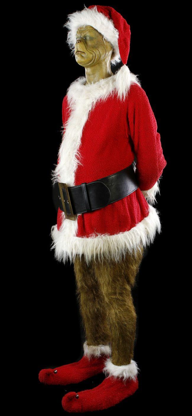 Original Jim Carrey The Grinch Santa costume