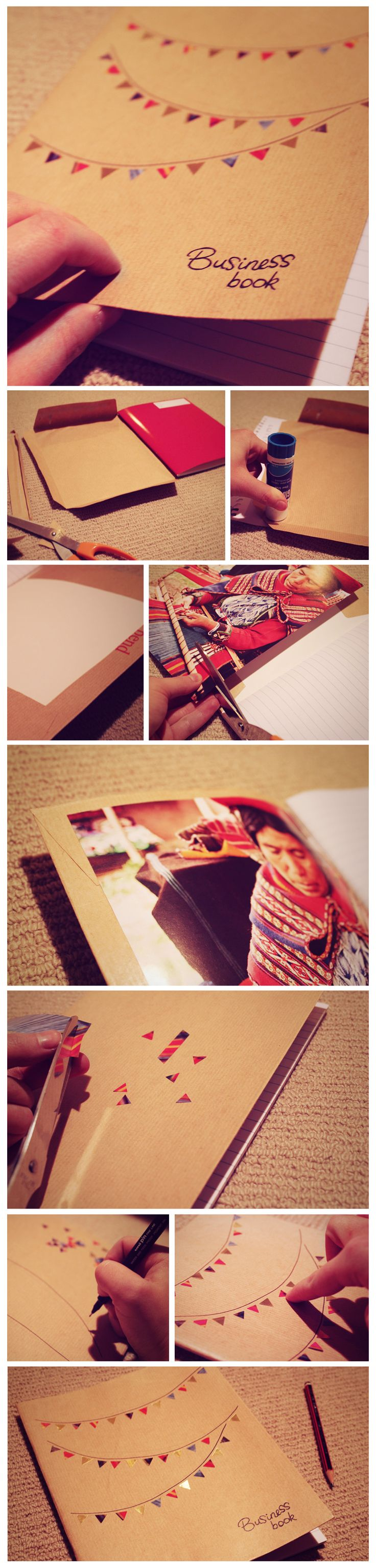 Diy notebook covers so your books and you will stand out at school - Diy Craft Idea Gorgeously Simple And Elegant