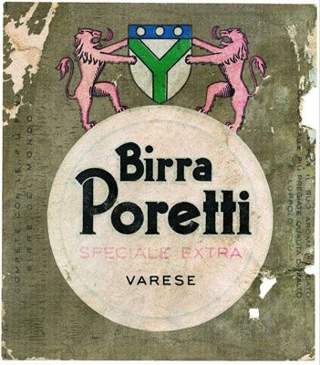 Carlsberg Italia - Etichetta Birra Poretti.   #TuscanyAgriturismoGiratola