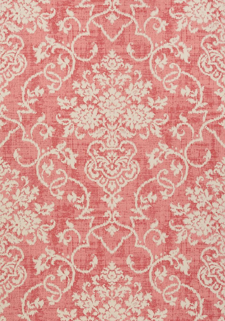 ALICIA, Raspberry, T89125, Collection Damask Resource 4 from Thibaut @glenwood interiors