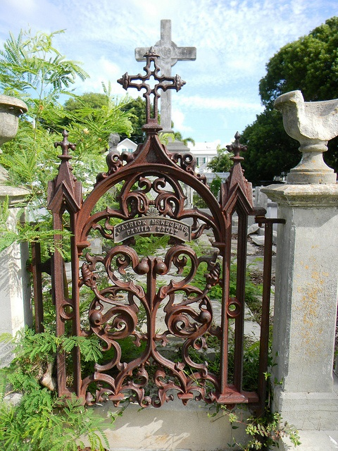 Very old, ornate cemetary gate