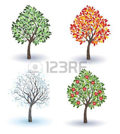 """Résultat de recherche d'images pour """"arbre saison dessin"""""""