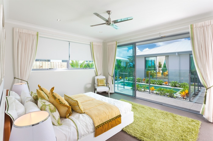 Main Bedroom - what a nice outlook over the pool