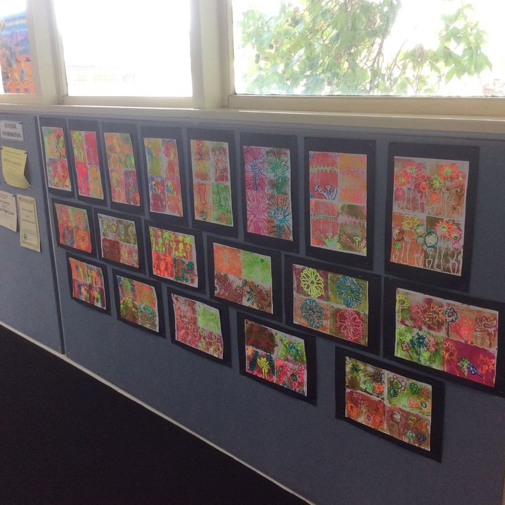 Year 4 Andy Warhol inspired prints using acrylic paint and fluoro pastels.