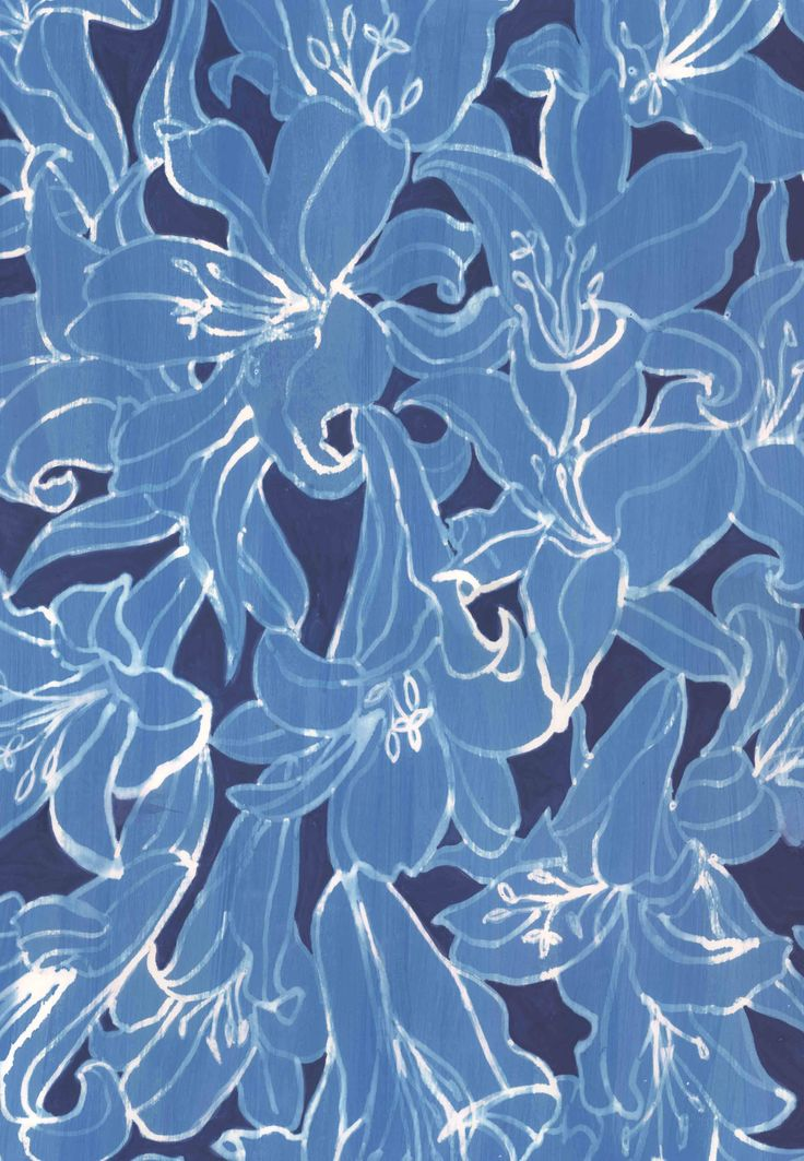 Blue Lilies original artwork