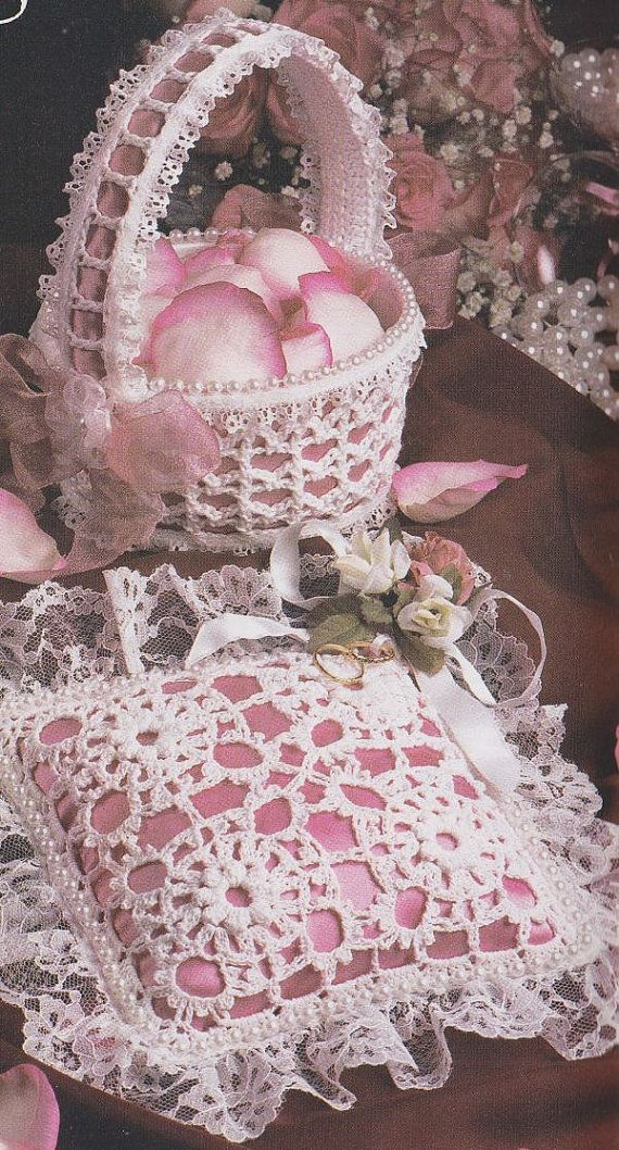 Ring Bearers Pillow Crochet Pattern AND Flower Girl ...