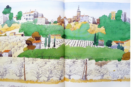 A Year in Provence - illustrations by Paul Hogarth
