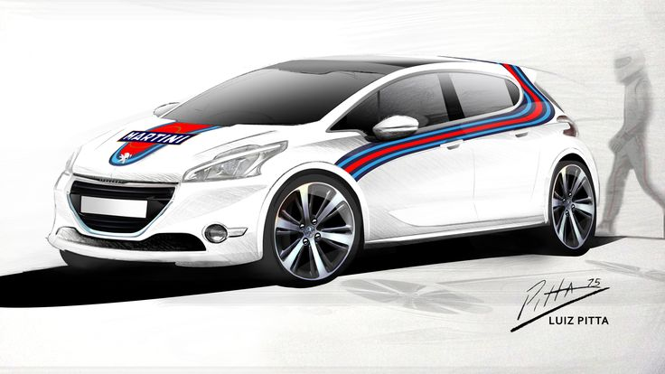 Personal Project -  Peugeot 208 Martini´s Painting