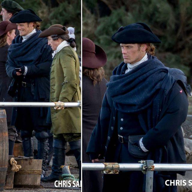 #SamHeughan on #Outlander Season 3 set . Via Chris SaintMartin . #outlanderStarz #OutlanderSeries #OutlanderSeason3 #JamieFraser