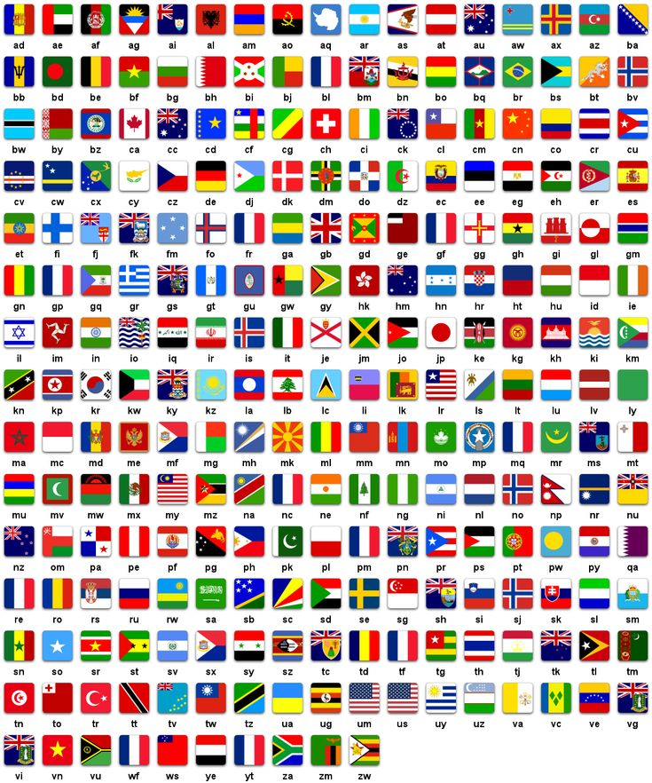 all the countries in the world with flags