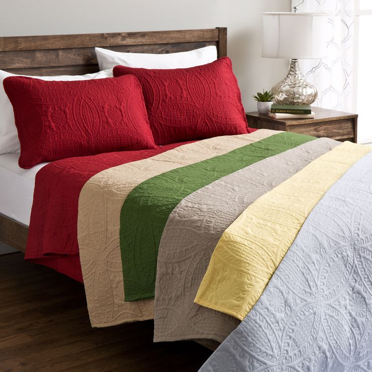 Sunrise Fashion Solid King Size Quilt Set in