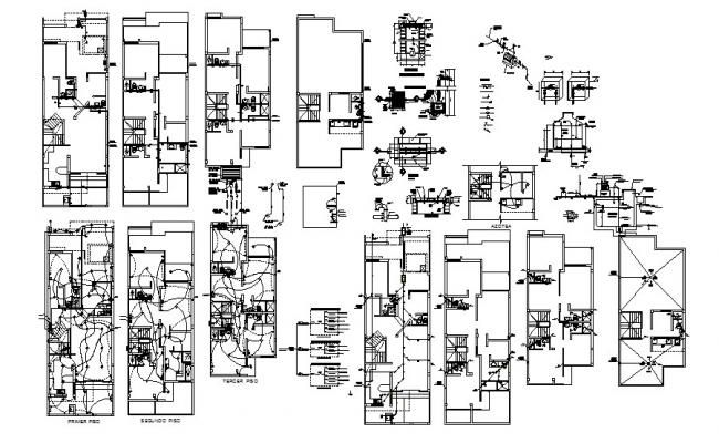 Residential Electrical Layout Plan In AutoCAD File (With