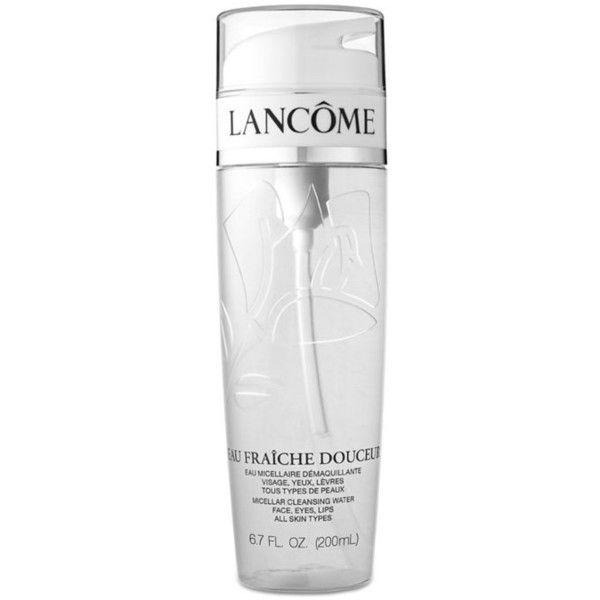 Lancôme  Eau Fra238che Douceur Micellar Cleansing Water ($39) ❤ liked on Polyvore featuring beauty products, skincare, face care, face cleansers, lancôme, lancome face cleanser, lancome face wash and lancome facial cleanser