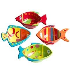 Go Fish Dip Bowls: