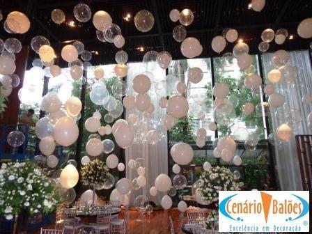 Decoração de festa de casamento com balões. lindo Por Cenário Balões.