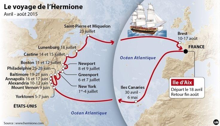 """""""L'Hermione"""" aux Etats-Unis : des soirées à bord de la frégate à... 50 000 dollars - SudOuest.fr"""