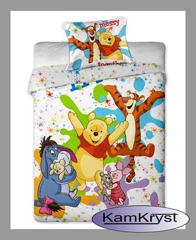 Pooh sheets 140 x 200 cm - bed linen available on the store's website with linen Kamkryst | Pościel z Kubusiem Puchatkiem 140 x 200 cm - pościel dostępna na stronach sklepu z pościelą Kamkryst