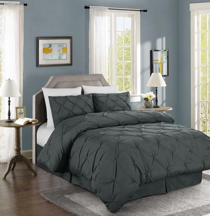 chezmoi collection berlin 4piece pintuck bedding comforter set