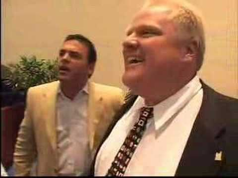 Councillor Rob Ford in action