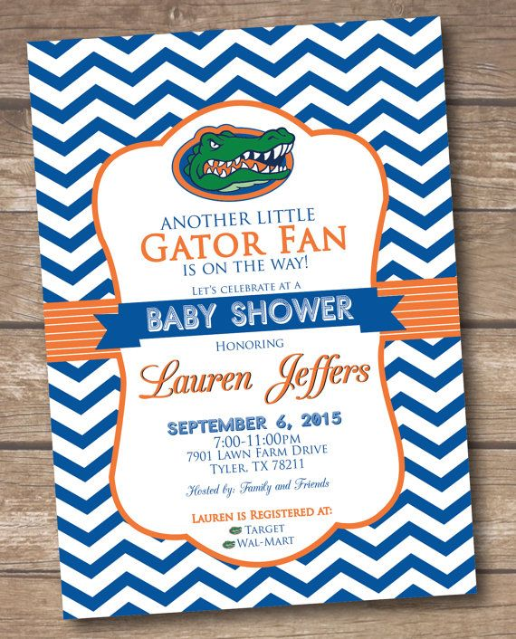 Florida Gators Baby Shower Invitation by MorganMadeCreations