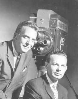 "Chet Huntley and David Brinkley co-anchored the NBC Nightly News from 1956-1970.  Huntley was in NY and Brinkley was in Washington DC.  ""Good night Chet, good night David and good night from NBC news"" was their sign off.  It became a catchphrase at the time."