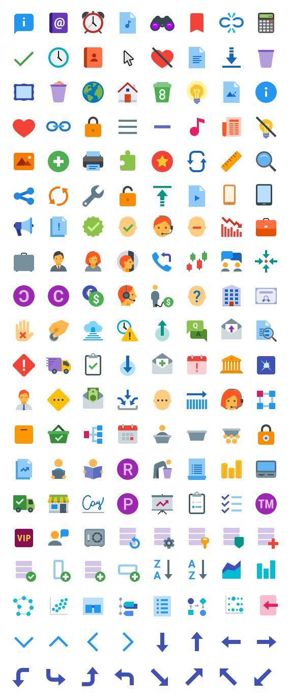 Iconos planos en formato SVG