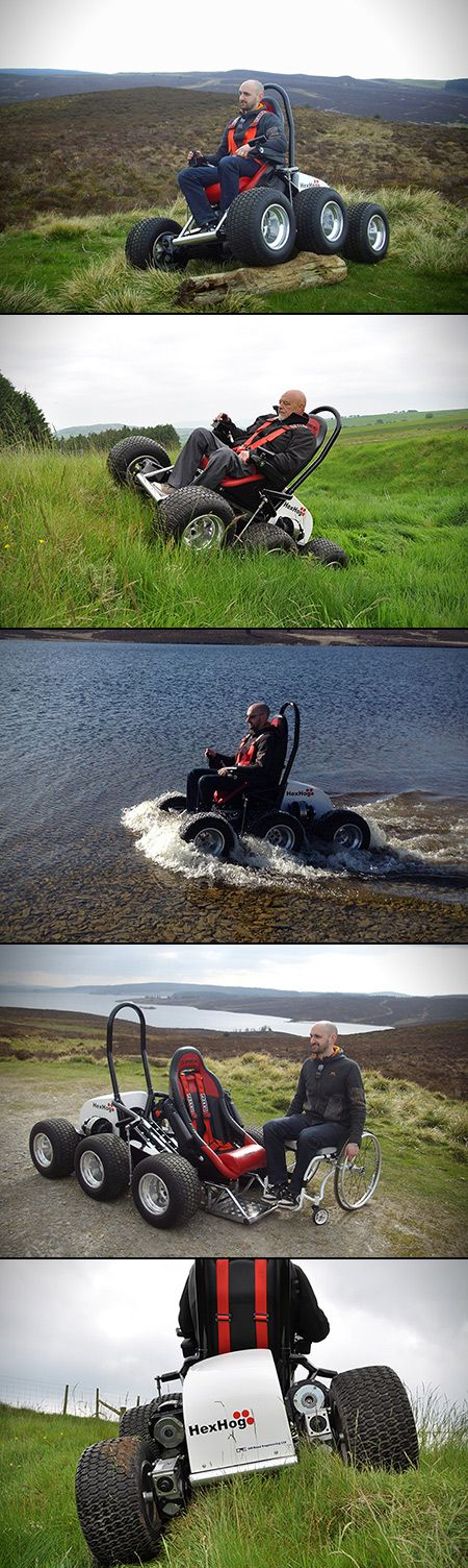 HexHog is the Ultimate All-Terrain Wheelchair, Complete with 6 Wheels