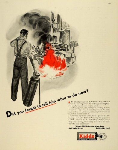 Antique Walter Kidde Fire Extinguisher