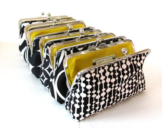 Clutch Purse Bridesmaids Gifts, Customized Clutch, Personalized Wedding Party Present  you choose the fabrics