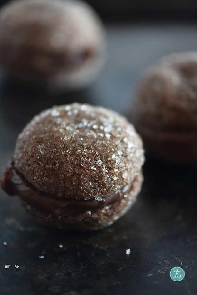 Chocolate Ganache Cookies Recipe from addapinch.com