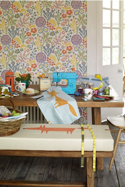 Hanna Werning - Borås wallpaper I love the wallpaper and the design over the textiles #byw