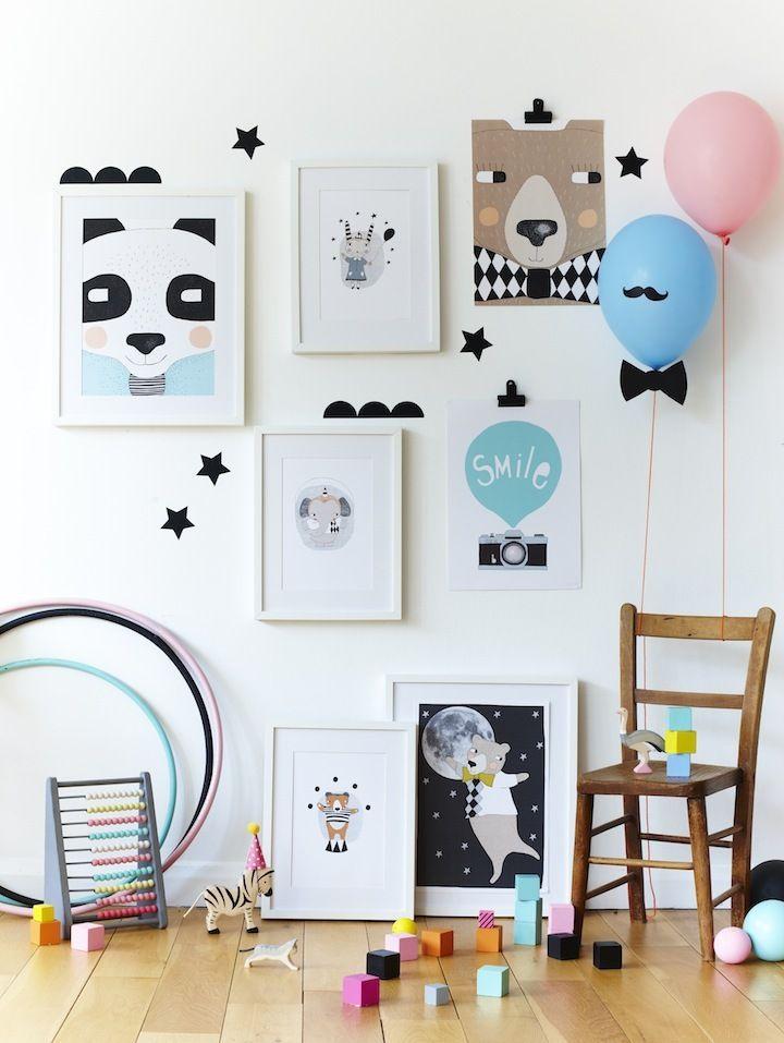 cute gallery wall #kids #room