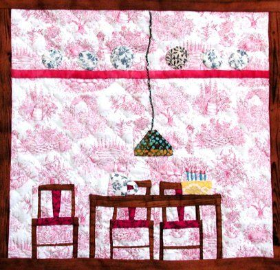 Paper pieced dollhouse quilt blocks doll houses for Dining room quilter