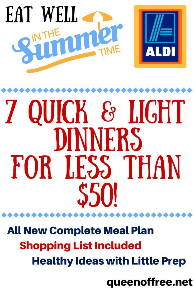 Easy, healthy ALDI meal plan to feed a family of four 7 dinners for less than 50 dollars!