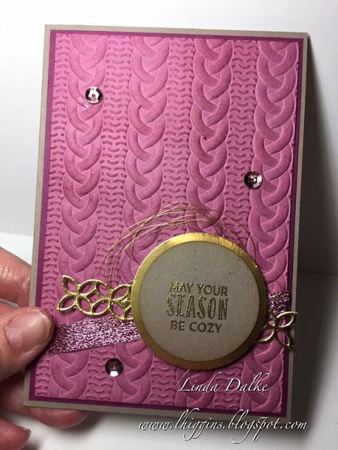 Linda Dalke: Using the Cable Knit Embossing Folder from Stampin'Up!