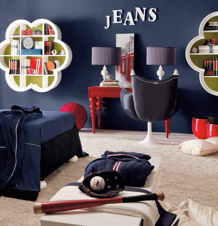 Jonny blue boys bedroom by AltaModa | Kids Luxury Bedroom ...